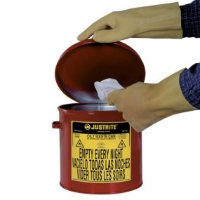Kan voor olieachtig afval (handbediend) - 20ltr.