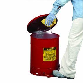 Kan voor olieachtig afval (voetbediend) - 34ltr.