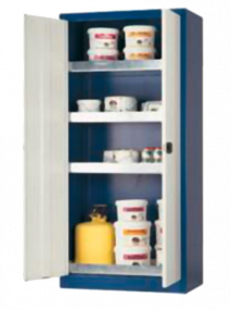 Opbergkast voor gevaarlijke producten, draaideuren, 95 x 50 x 195cm