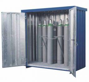 Gasflessencontainer, verzinkte uitvoering, 21 x 50 ltr gasflessen