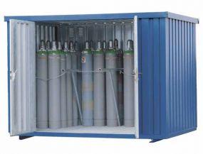 Gasflessencontainer, verzinkte uitvoering, 66 x 50 ltr gasflessen