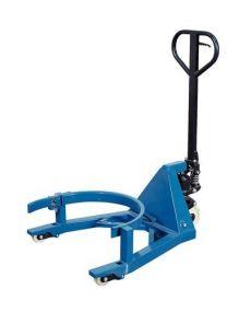 Vatenlifter voor stalen 200 ltr vaten met degelijke automatische vatenklem, hefbereik 110 mm