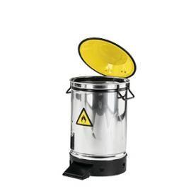 Afvalbak RVS 50 liter met voetbediening