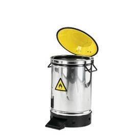 Afvalbak RVS 20 liter met voetbediening