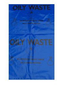 Afvalzak conform UN voorschriften geschikt voor oliehoudende ontvlambare producten