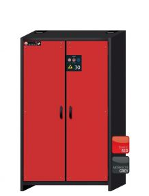 Brandwerende veiligheidskast Q-LINE basic 30 minuten met, 2 draaideuren, afmetingen 116,4 x 62 x 194,7cm