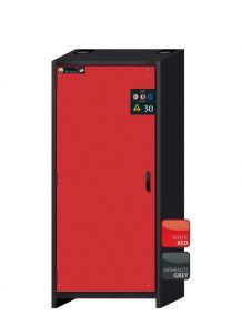 Brandwerende veiligheidskast Q-LINE basic 30 minuten met, 1 draaideur, afmetingen 86,4 x 62 x 194,7cm