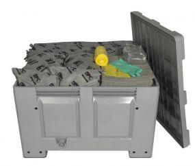 Alle vloeistoffen spill kit 300 ltr reliable in kunststof box