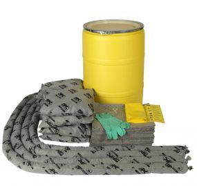 spill kit 150 ltr in waterdicht UN vat
