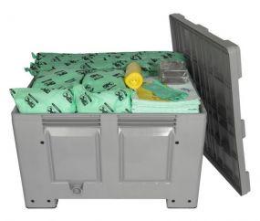 Chemicaliën Spill kit - 300 ltr - kunststof container met deksel