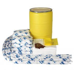 Olie spill kit 150 ltr in waterdichte UN drum